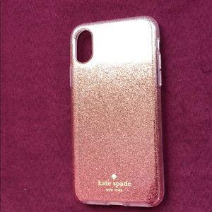 ✨ kate spade ombré glitter iPhone X case